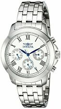 Invicta Womens Specialty Analog Display Swiss Quartz Silver-Tone Watch