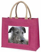 Deerhound Dog Large Pink Shopping Bag Christmas Present Idea, AD-DEH1BLP