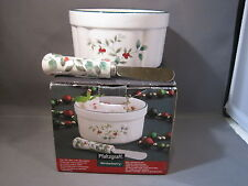 NEW Pfaltzgraff Winterberry Dip Mix Set with Spreader with box Use / Care Sheet