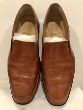[Pre-Owned] Bally Mens Loafers Shoes Tan Leather Size 8.5