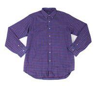 Polo Ralph Lauren Mens Shirt Blue Size XL Plaid Classic Fit Button Down $89 #153