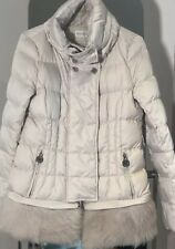 Patrizia pepe Down Jacket With Detached Shearling Off White Ivory Size S 8UK