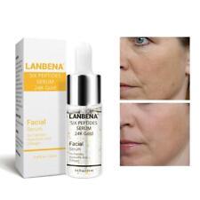 Lanbena 24k Gold six peptides serum  aging wrinkle lift firming skincar 15m Y3P4