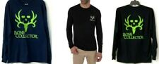 Men's Bone Collector Long-Sleeve skull logo T-Shirt T-Shirts Navy Black Sizes