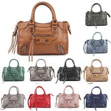 Ladies Designer Inspired Studded Buckles Shoulder Bag Womens Handbag New UK