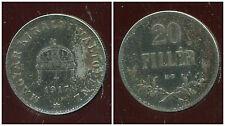 HONGRIE 20 filler 1917  fer