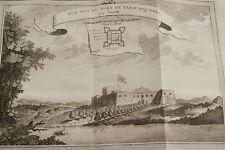 GRAVURE AFRIQUE VUE DU SUD FORT DE TANTUMQUERRI SMITH 1747 EAU FORTE
