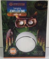 JEWELLED OWL HANGING SOLAR LIGHT