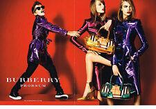 PUBLICITE  2013   BURBERRY PROSUM   haute couture  (2 pages)