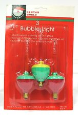Adler Santas World Package of 3 Christmas Retro Bubble Lights New 1980s