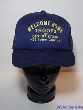 Vintage 1991 DESERT STORM Welcome Home MILITARY ADVERTISING SNAPBACK HAT Youngan