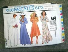 McCall's 6173 Vtg 1978 DISCO WEDDING DRESS SEWING PATTERN sz 10/12/14 Cut