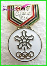 Pin's Jo Jeux Olympique GALGARY 1988 Medaille CTV #429