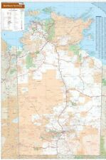 NORTHERN TERRITORY STATE MAP POSTER (70x100cm) NT LARGE ROAD GUIDE TRAVEL PIC