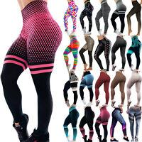 Womens Yoga Leggings Fitness Pants Sports Gym Exercise Running Jogging Trouser