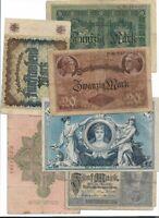 Reichsmark germany lotto 8 banconote