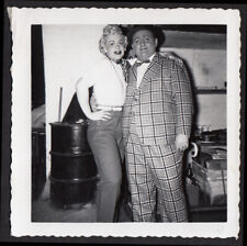 GUYS & DOLLS DANCER WOMAN & NICELY-NICELY COSTUME FAT MAN ~ 1950s VINTAGE PHOTO