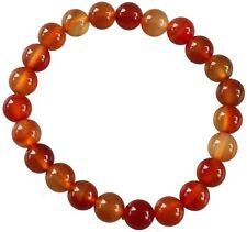 - 0 5/16in Bracelet Round Beads Cornelian