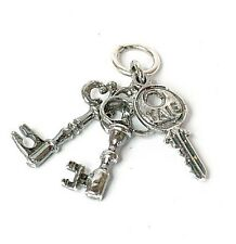 VINTAGE ARGENTO KEYS TO MY HEART CHARM