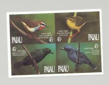 Palau #234a Forest Birds 1v Block of 4 Imperf Proof