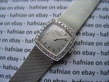 Genuine Chopard LUC Ladies 18K White gold vintage cocktail Watch with Diamonds