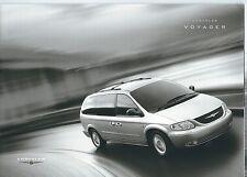 Chrysler Voyager brochure Dec 2003 - Mint Condition