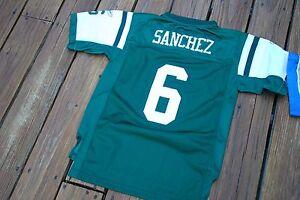 New York Jets Mark Sanchez Youth Large fits sizes 14/16 SEWN jersey