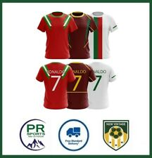 Retro Portugal Ronaldo CR7 inspired Football Tshirts Adult - All sizes Available