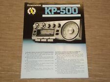 Pioneer KP-500 Car Stereo Cassette tape Original Catalogue
