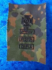 ^ a4-098 US schiessabzeichen per BW tarnfleck Sharpshooter M-GUN RIFLE Pistol