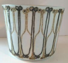 Vintage ROYAL COPENHAGEN Ellen Malmer FAJANCE MOD pattern Vase / planter