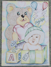 Inmate drawings ebay its a boy greeting card prison inmate art colorado super max bureau of prisons m4hsunfo