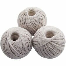 3 X Cotton String Ball Twine Rope Wrap Card Gift Decoration Scrap Ribbon 180M