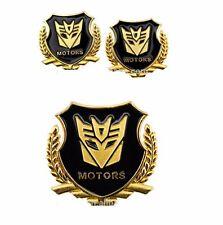 Car Metal Badge Emblem Sticker Transformers Decepticon gold 3D Logo ×2 best D