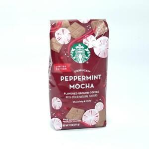 STARBUCKS PEPPERMINT MOCHA Flavored Ground Coffee - 11OZ