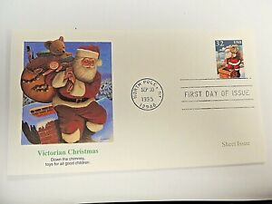 """September 30th, 1995  """"Victorian Christmas 1995"""" First Day Issue Lot G"""