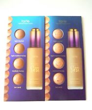 LOT of 2 TARTE Rainforest of the Sea Water Foundation 4 Color Sample Card