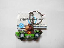 Mario kart Wii Mini Figure Charm Donkey Kong Car Keychain Strap New Japan
