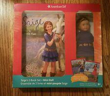 "American Girl 2013 Saige Sage Mini 6"" Doll + 2 Book Set"
