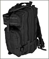 EXCELLENT QUALITY MEDIUM ASSAULT TACTICAL BACKPACK BLACK COLOR 600 DENIER FABRIC