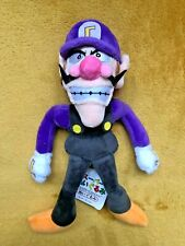 "Super Mario Plush Teddy - Waluigi Soft Toy - Size 11"" / 27cm NEW and Tagged"