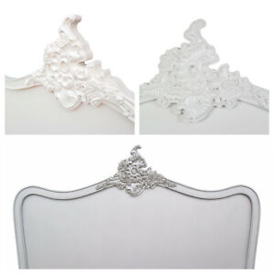French Ornate Chateau Style Double or Kingsize Headboard Cream, Silver or White