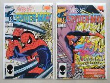 Web of Spider-Man #4 & 6 $7.00 LOT (1985, Marvel) 5.0/8.5 VF+ Doctor Octupus!