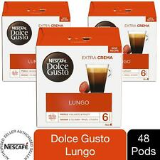 Nescafe Dolce Gusto Coffee Pods 3x Boxes / 48 Caps Cafe Lungo