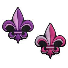 Pink and Purple Fleur-de-lis Tennis Dampener 2 Pack by Racket Expressions