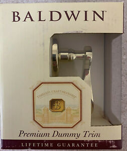 Baldwin Classic Wave Lever Polished Brass Premium Dummy Trim - Door Lever