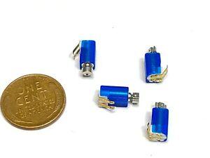 4 X blue Tiny Vibrator Motors 4 mm x 8mm Cell Phone Micro Motor 3V DC small C2