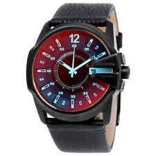 Diesel Timeframe Iridescent Dial Leather Men's Watch DZ1657
