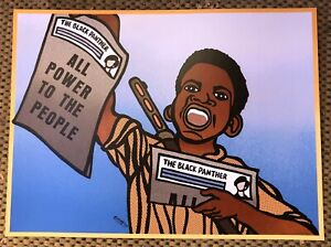 SWEET MINT PAPER BOY BLACK PANTHER PARTY POSTER BY EMORY DOUGLAS MINISTER OF ART