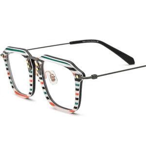 Vintage Ultralight β Titanium Glasses Fashion Square Acetate Clear Eyewear Frame